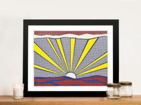 Sunrise by Roy Lichtenstein Framed Wall Art