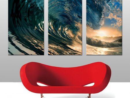 surf art split canvas print