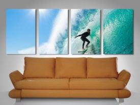 surf haze 4 panel wall art print on canvas
