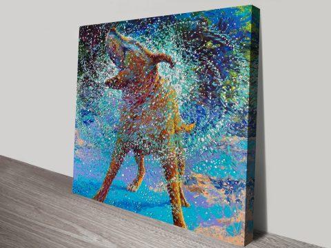 swimin' in ice iris Scott canvas print