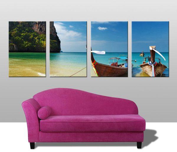 Buy a Thai Beach Scene 4-Piece Art Set Online