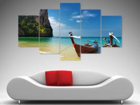 thailand paradise 5 panel canvas