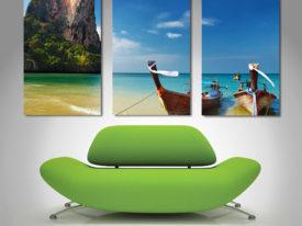 thailand paradise triptych panel canvas