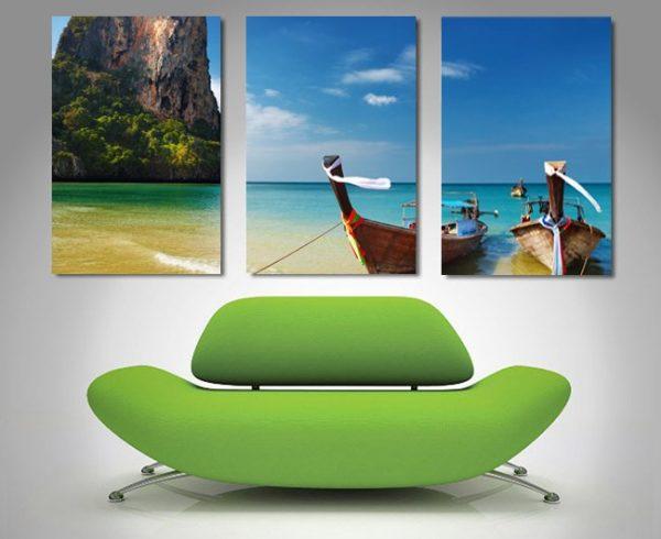Thai Paradise Triptych Art Great Gift Ideas AU