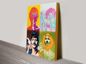 the beatles warhol popart canvas print