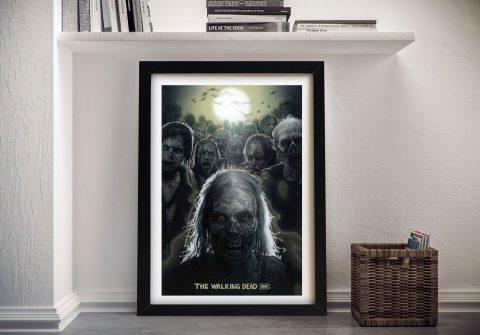 The Walking Dead Print Canvas Wall Art