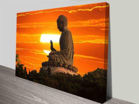 Tian Tan Buddha Canvas Art Print