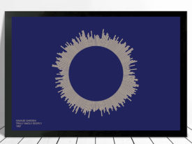 Truly Madly Deeply Soundwave Art on Canvas