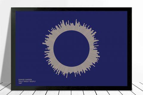 Truly Madly Deeply Soundwave Art on Canvas