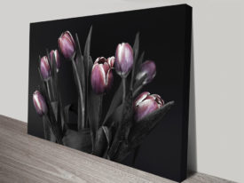 Purple Tulips Canvas Print Online