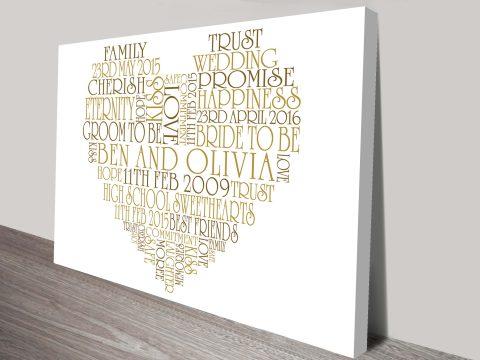 Valentines day gift ideas word art