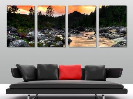 valley stream quad panel wall art print australia