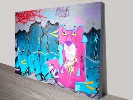 Pink Panther Graffiti Print on Canvas