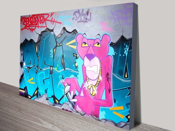 Buy a Pink Panther Street Art Print Gift Ideas AU