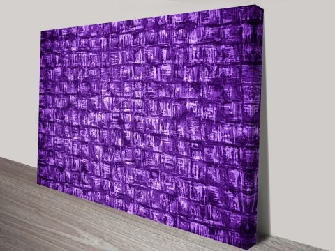 Velvet Squares Canvas Abstract Wall Art Print