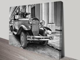 vintage car Canvas Art Print