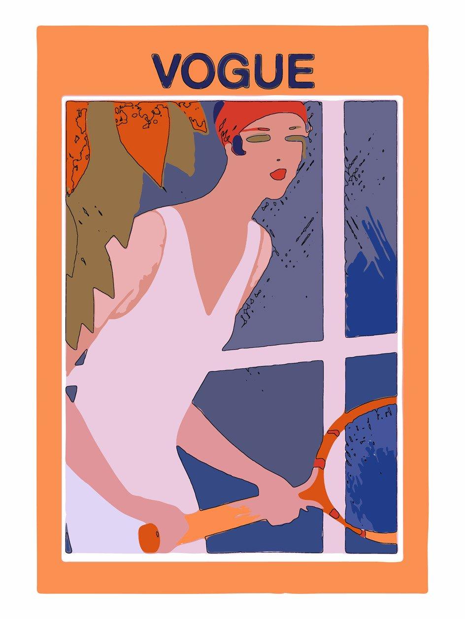 vogue tennis magazine cover art