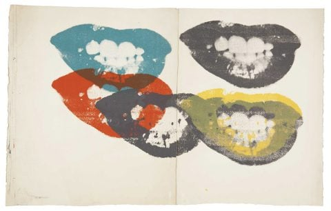 Warhol Lips canvas art Australia