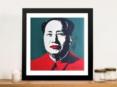 Andy Warhol Mao Framed Pop Art