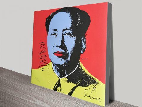 Andy Warhol Mao Pop Art Canvas Pictures Brisbane