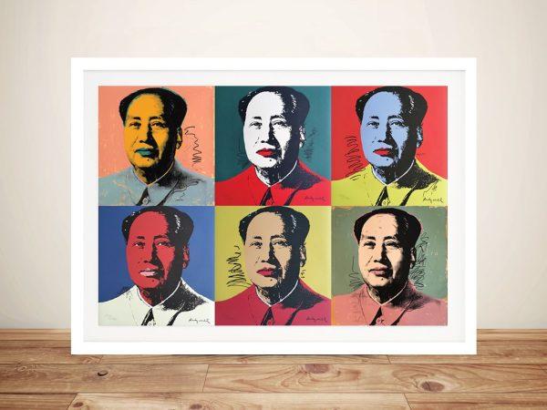 Six Panel Warhol Mao Framed Wall Art