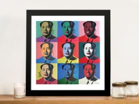 9 Mao Andy Warhol Panels Framed Wall Art