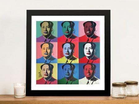 9 Mao Andy Warhol Panels Framed Wall Art