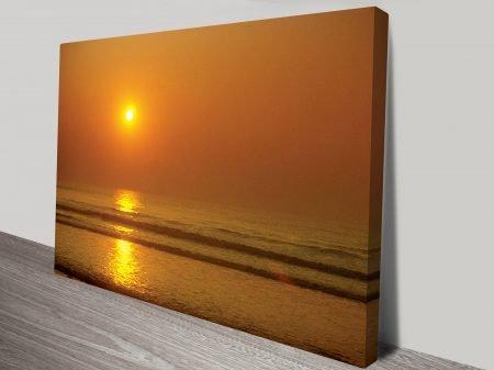 orange dusk canvas print