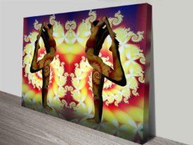 yogi fractal elena kulikova artwork wall print